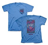 Create In Me A Pure Heart Of God Shirt, Blue, Medium