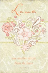 Love One Another Deeply (1 Peter 1:22, NIV) Bulletins, 100