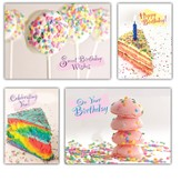 Birthday Sprinkles, Box of 12 Assorted Birthday Cards