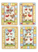 Little Lambs, Box of 12 Assorted Baby Congratulation Cards