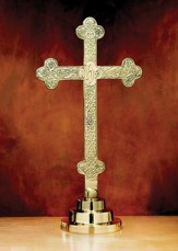 Budded Cross Filigree Altar Cross