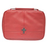 Cross, Tri-Fold Bible Cover Organizer, Red, Large