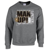 Man Up Sweatshirt, Gray, X-Large