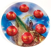 Passover Seder Plate, Glass