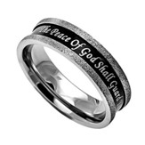Guarded, Black Champagne Women's Ring, Size 9 (Philippians 4:7)