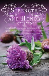 Women's Day: Strength and Honor (Proverbs 31:25-26, KJV) Bulletins, 100
