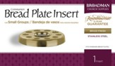 Bread Plate Insert for Small Group Communion, Brass Finish