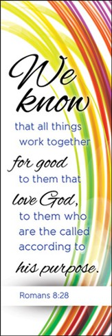 We Know That All Things Work Together Bookmarks (Romans 8:28)
