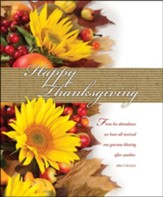 Happy Thanksgiving (John 1:16, NLT) Large Bulletins, 100