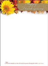 Happy Thanksgiving (John 1:16, NLT) Letterhead, 100