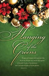 Hanging of the Greens (Isaiah 60:13) Bulletins, 100