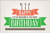 Happy Birthday Wishes Postcards (Philemon 3) pack of 25