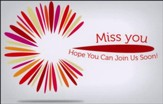 Miss You Postcards (2 Peter 1:2, NIV) pack of 25