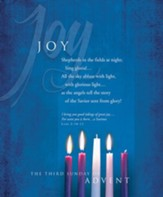 Advent, Large Bulletin, Joy (Luke 2:10-11) Bulletins, 100
