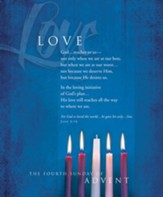 Advent, Large Bulletin, Love (John 3:16) Bulletins, 100