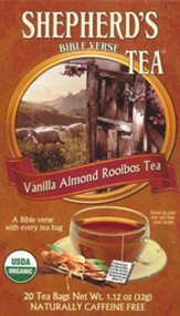 Organic Vanilla Almond Bible Verse Tea, Box of 20 Tea Bags