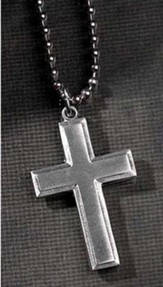 Joshua 1:9 Cross Pendant