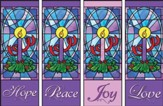 Advent Candles X-stand Banners, Set of 4