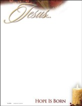 Jesus . . . Hope is Born, Letterhead, 100