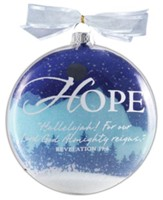 Hope Snow Globe Glass Ornament