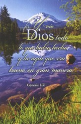 Todo lo que Habia Hecho - Gen. 1:31 RVR 1960, Boletines, 100  (All That God Made - Genesis 1:31, Bulletins, 100)