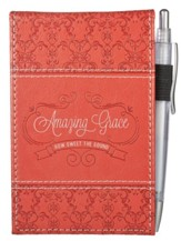 Amazing Grace, Lux-Leather Notepad and Pen