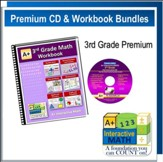 A+ Interactive Math Premium Edition CD & Workbook Bundle, Grade 3
