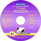 A+ Interactive Math Full Curriculum Grade 1 eBooks Edition on CD-ROM