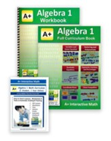 A+ Interactive Math Textbook,  Workbook & eBook CD Software Bundle, Algebra 1