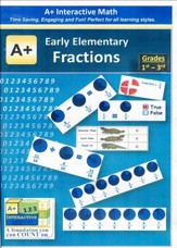 A+ Interactive Supplemental Math:  Early Elementary Fractions on CD-ROM