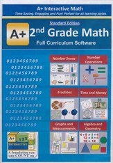 A+ Interactive Math Full Curriculum  Grade 2 Standard Edition on CD-ROM