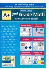 A+ Interactive Math Full Curriculum  Grade 2 eBooks Edition on CD-ROM
