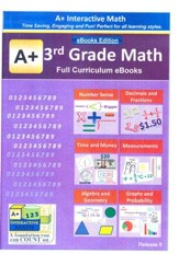 A+ Interactive Math Full Curriculum  Grade 3 eBooks Edition on CD-ROM