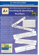 A+ Interactive Supplemental Math: Early Elementary Number Sense Counting & Identifying Numbers on CD-ROM