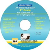 A+ Interactive Math Full Curriculum  Grade 4 eBooks Edition on CD-ROM
