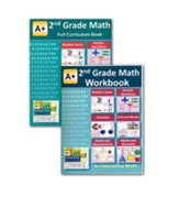 A+ Interactive Math Full Curriculum Textbook & Workbook Bundle, Grade 2