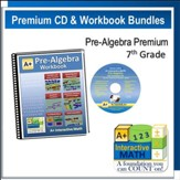 A+ Interactive Math Premium Edition CD & Workbook Bundle, Pre-Algebra (Grade 7)