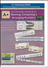 A+ Interactive Supplemental Math:  Early Elementary Number Sense Naming, Comparing & Arranging Numbers on CD-ROM