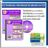 A+ Interactive Math Textbook, Workbook & eBook CD Software Bundle, Grade 1