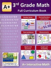 A+ Interactive Math Full Curriculum Textbook, Grade 3