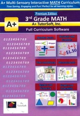 A+ Interactive Math Full Curriculum  Grade 3 Premium Edition on CD-ROM