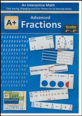 A+ Interactive Supplemental Math Advanced Fractions on CD-ROM