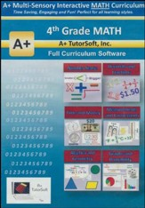 A+ Interactive Math Full Curriculum Grade 4 Standard Edition on CD-ROM