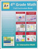 A+ Interactive Math Full Curriculum Textbook, Grade 4
