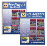 A+ Interactive Math Full Curriculum  Textbook & Workbook Bundle, Pre-Algebra (Grade 7)