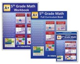A+ Interactive Math Textbook, Workbook & eBook CD Software Bundle, Grade 5