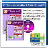 A+ Interactive Math Textbook, Workbook & eBook CD Software Bundle, Grade 3