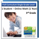 A+ Interactive Online Math Grade 3 Full Curriculum (1 Year)