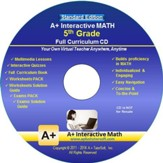 A+ Interactive Math Full Curriculum Grade 5 Standard Edition on CD-ROM