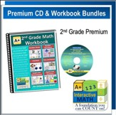 A+ Interactive Math Premium Edition CD & Workbook Bundle, Grade 2
